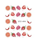 "HS Store - 1 pcs ""STZ-494"" Summer Fruit Drinking Stickers For Nail Art - $2.29"