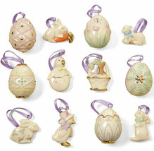 Lenox Easter Tree Miniature Tree Ornaments 12 Piece Set New In Box  - $235.61