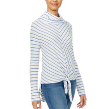 American Rag Juniors Striped Cowl-Neck top, Egret, Small - $23.33