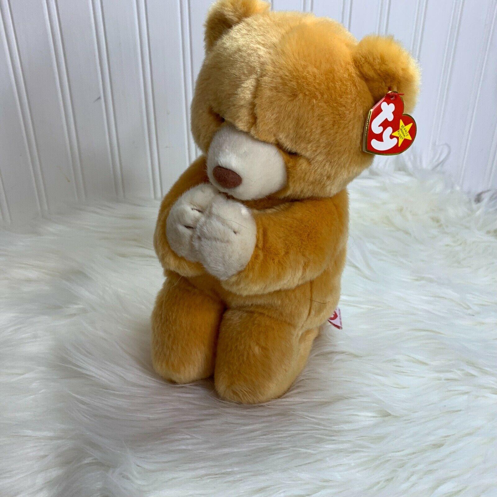 Ty Buddies Hope Plush Stuffed Animal Bear Kneeling in Prayer