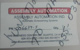 NEW ASSEMBLY AUTOMATION 006639-5 ENCODER CABLE image 3