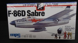 MPC F-86D SABRE US NAVY FIGHTER WITH GROUND CREW 1/72 PLASTIC MODEL AIRP... - $19.95
