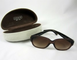Coach L027 Pamela Sunglasses & Case Tortoise Shell Brown Gold HC 8036 - $79.99