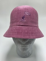 "Unisex Kangol Pink Flirt Bell ""I like you.. Play with me"" Bucket Hat - $89.00"
