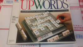 Vintage Upwords 3D Word Game Milton Bradley MB Board Game - $25.00