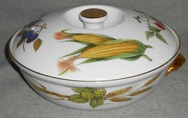 """Royal Worcester Evesham Gold Pattern 8"""" Entree Dish w/Lid Made In England - $39.59"""