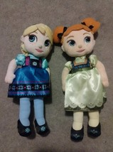 Disney Store princess Frozen Elsa and Anna Toddler Plush Doll Stuffed To... - $17.82