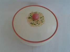1964 HOLIDAY ROSES AVON TO A WILD ROSE BEAUTY DUST POWDER BOX W/ PUFF VI... - $12.19