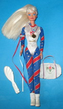Vintage Barbie 1996 Olympic One Piece + Accessories  EUC - $9.25