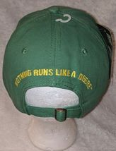 John Deere LP14418 Green Adjustable Baseball Cap With Leaping Deer Logo image 4