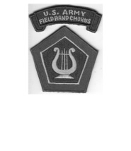 Military Band US Army Field Army Band and Chorus Insignia & Tab USAREUR Patch gr - $9.99