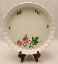 """Christineholm Pink Roses Scalloped Quiche Pie Pan Plate 9.25"""" Bake Dish ... - €9,96 EUR"""