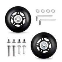 60MM Luggage Replacement Wheels Luggage Suitcase Replacement Wheels Kit Inline O