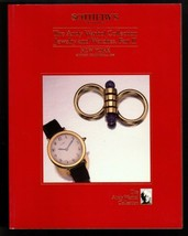 1988 SOTHEBY'S Andy Warhol Collection Jewelry Watch Auction Catalog Part II - $26.59