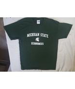 Michigan State Economics T Shirt Green Medium 19 x 29 - $24.74