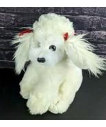 Vintage Russ Berrie White Dog Puppy Plush Stuffed Animal Princess Bichon... - $35.63