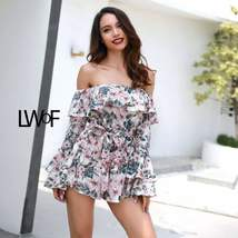 Backless Drawstring Floral Print Cover Up Romper Women - $43.99