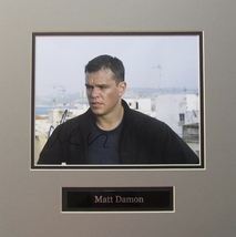 MATT DAMON AUTOGRAPHED HAND SIGNED 8x10 PHOTO Double MATTED w/COA Jason ... - $59.99