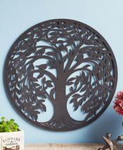 "20"" Round Metal Wall Decor Rustic Finish ** Tree ** - $37.95"
