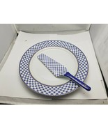 Vintage Pankake plate with spoon 2 elements set made in Russia - $148.50