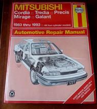 Mitsubishi Cordia Tredia PrÉcis Mirage Galant 1983 Thru 1993 Repair Manual - $11.76