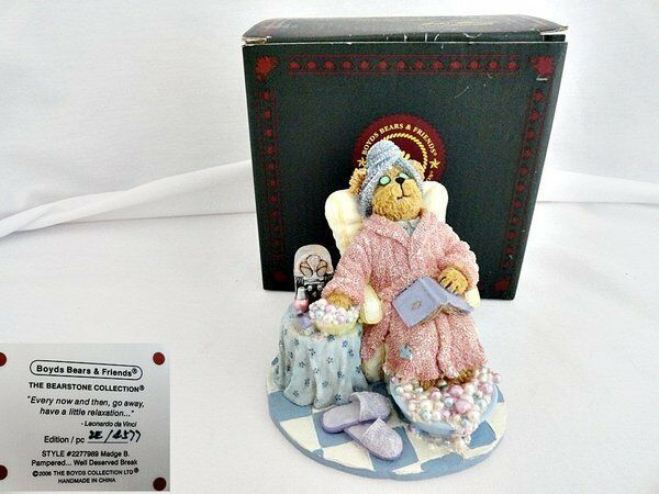 Boyds Bears & Friends Madge B Pampered Figurine