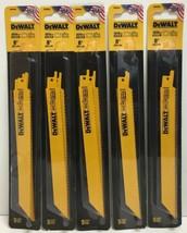 "(New) DEWALT DW4846 8"" 10/14 TPI Bi-Metal Reciprocating Saw Blade Pack of 5 - $64.34"