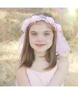 Pink Flower Fairy  Tiara Headband For Girls - $8.95