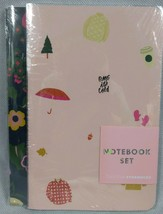 Starbucks Ban.do Set of 2 Notebooks Bando Yes Fun Flowers OMG its Cold NWT - $9.85