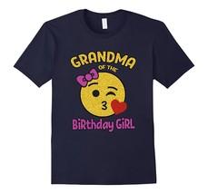 New Shirt - Grandma of the Birthday Girl Emoji Pink Shirt Kiss Heart Tee... - $17.95+