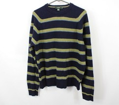 J Crew Mens Medium Lambswool Striped Casual Fall Crewneck Sweater Blue G... - $15.79
