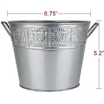 """48-Ct 5x7"""" Silver Galvanized Metal Buckets Pails Planters Holders Craft ... - $97.01"""