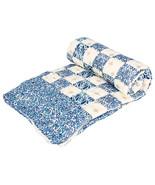 Home Furnishing Bedding Quilt Bedspread Blue Square Exotica Single Razai - $34.00