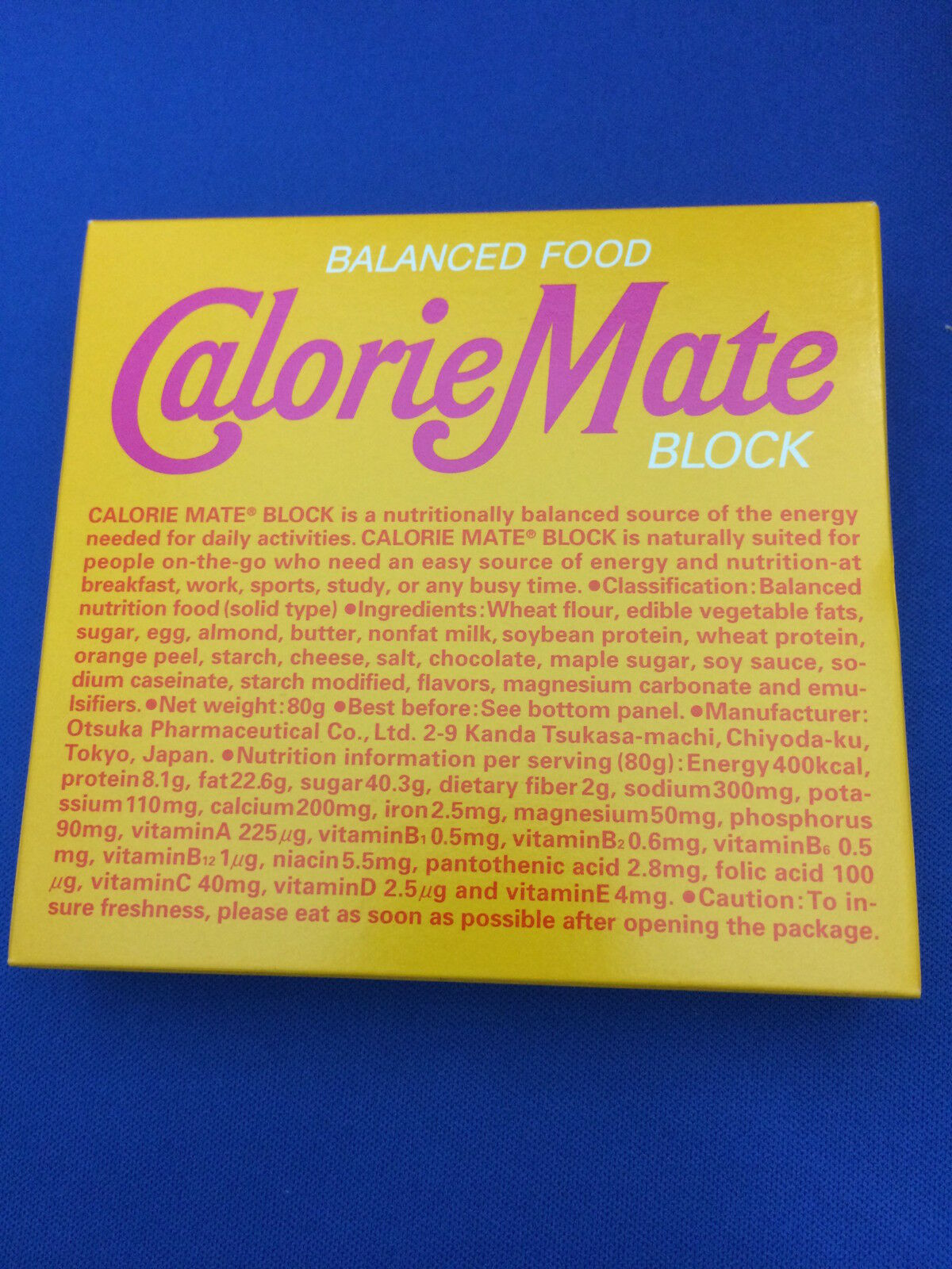 Calorie Mate block 5 flavor [fruit,chocolate,cheese,maple,plain]