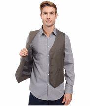 Perry Ellis - Regular Fit Pattern Twill Suit Vest (Chinchilla) Men's Vest $70 image 5