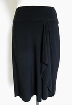 White House Black Market Side Drape Knit Skirt XS Elastic Waist Asymmetr... - $14.99