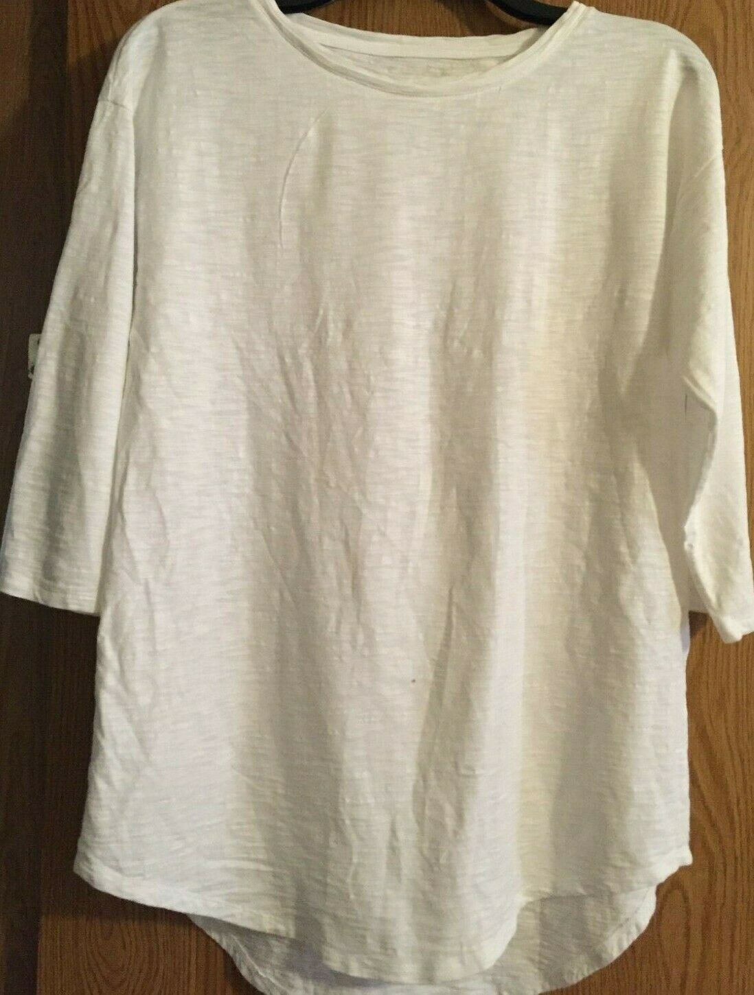 Primary image for CHICO'S  the  ultimate tee Size 0 white  3/4 Sleeve 60% Cotton  40% Modal