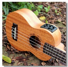 Electric Ukulele Guitar Handcraft Mahogany Hawaii Guitarist Music Play D... - $79.99