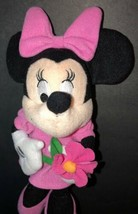 """Small Disney Minnie Mouse Holding Flower 10"""" plush doll - $8.10"""