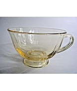 Fostoria Fairfax Yellow Depression Glass Tea Cup - $8.86
