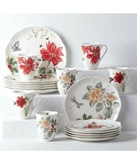 New Lenox Butterfly Meadow Holiday 18 piece Dinnerware Set, Service for 6 - $156.11