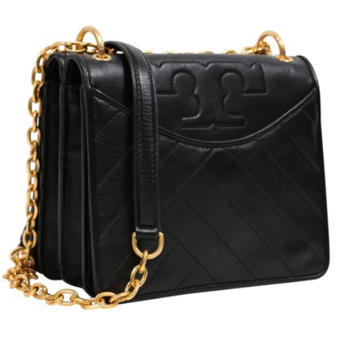 Tory Burch Alexa Convertible Black Leather Shoulder Bag image 3