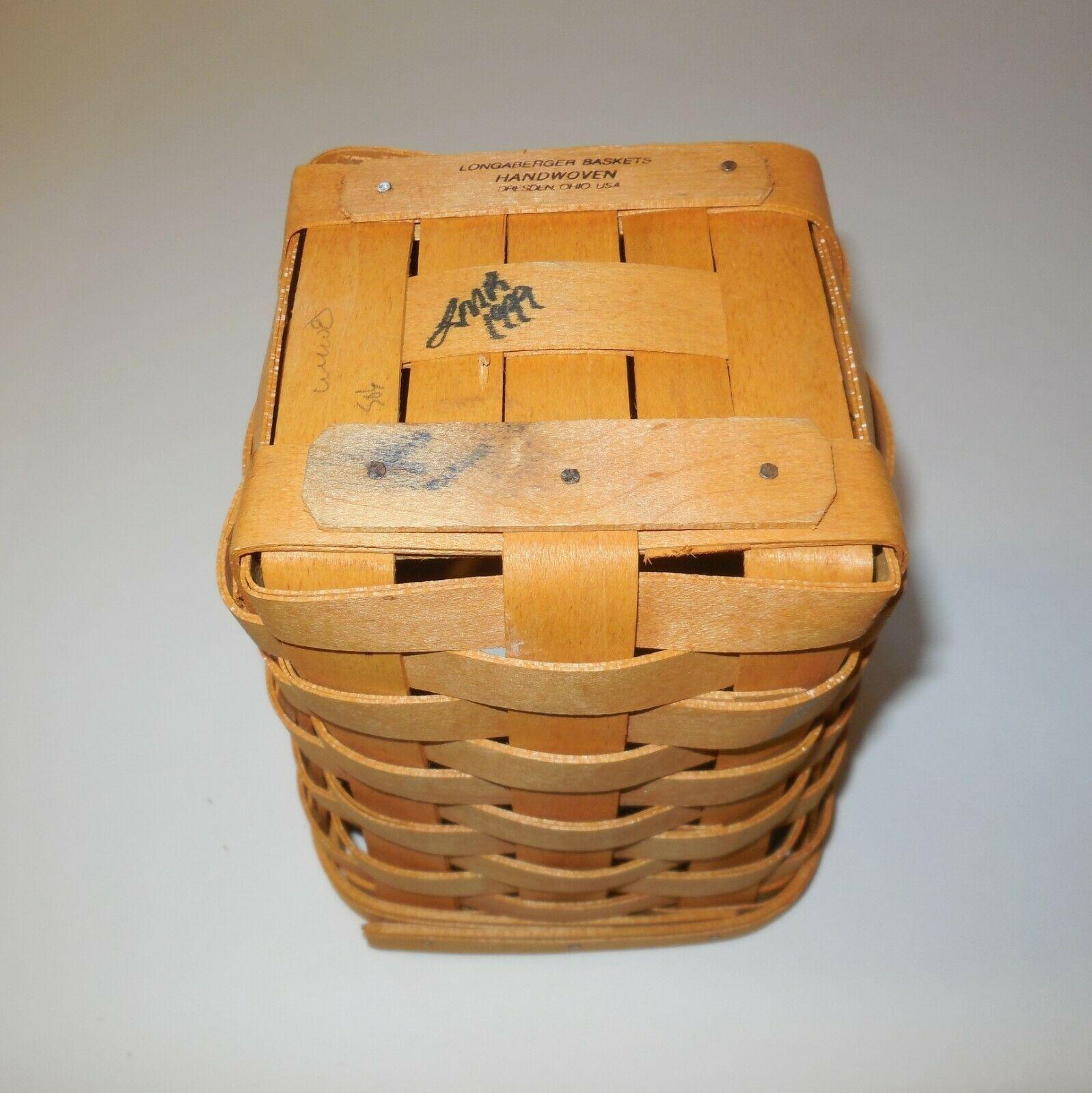 "Longaberger 6"" Spoon Basket 1999 image 9"
