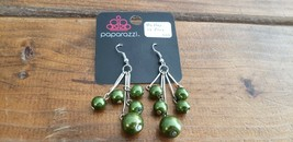 Paparazzi Earrings (New) #522 Mother Of Peas - $8.58