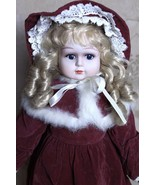 "Large Victorian Style Doll Porcelain Face Hands Feet 22-24"" Soft Body Re... - $69.28"