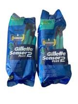 Gillette Sensor2 Plus Fixed Men's Disposable Razor, 10 Count (Pack of 2) - $17.26