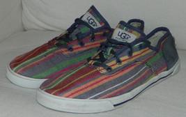UGG Australia ANAYA Sz. 6 SNEAKERS Shoes STRIPED Blue Red GREAT Look  10... - $220,10 MXN