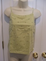 NWT CHELSEA STUDIO light sage fully lined cami top built in shelf bra to... - $14.10
