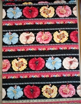 1/2 yd music/Can-Can dancers on black quilt fabric -free shipping image 3
