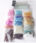 Clear Mix E 6/0 4mm Glass Seed Bead Lot Jewelry... - $11.00